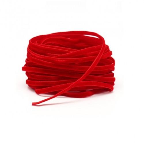 Бархатная лента красная, 1 м
