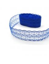 Кружево Синее 45 мм, 1 м