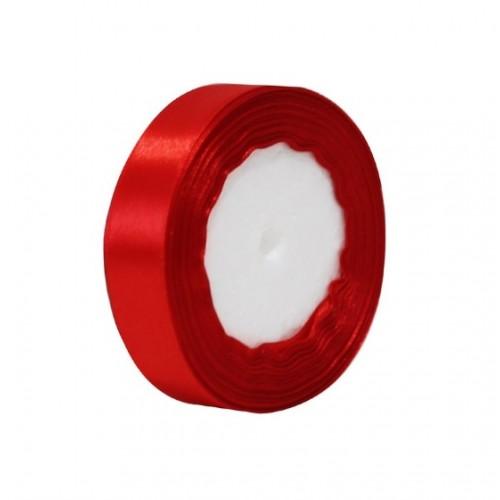 Лента атласная 2,5 см Красная, 1 м