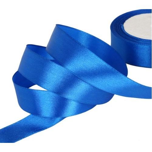Купить ленту атласную 2,5 см Синюю