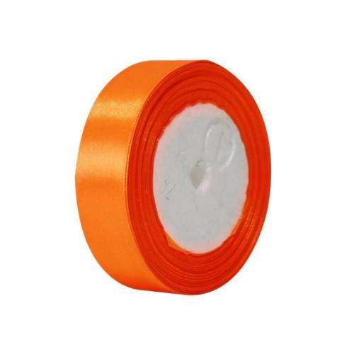 Лента атласная 2,5 см Оранжевая фото