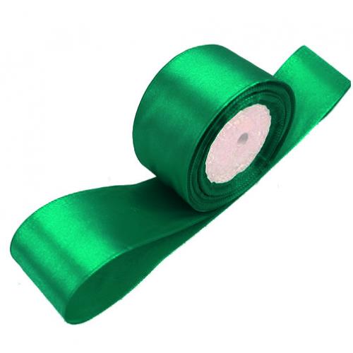 Лента атласная 5 см Зеленая, 1 м