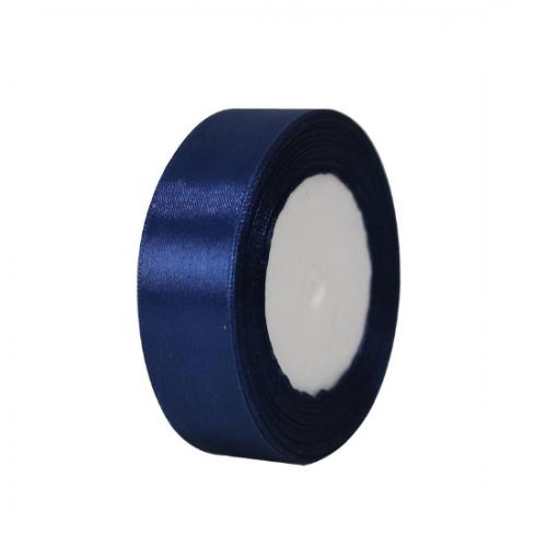 Лента атласная 2,5 см Синяя, фото