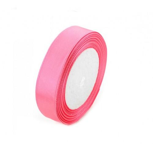 Лента атласная 2,5 см Розовая, 1 м