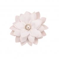 Шифоновый цветок Белый с жемчужной серединкой