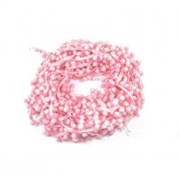 Тесьма с помпонами Розовая, 1 м