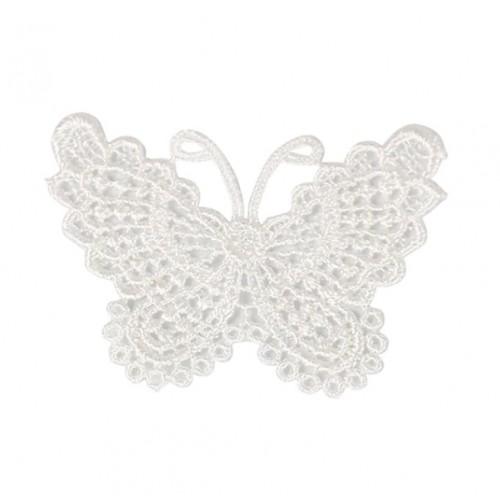 Кружевной элемент Бабочка белая