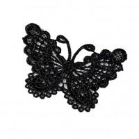 Кружевной элемент Бабочка черная