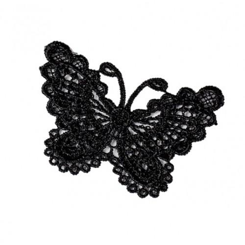 Кружевной элемент Бабочка черная фото