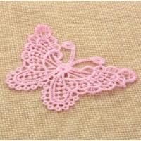 Кружевной элемент Бабочка розовая