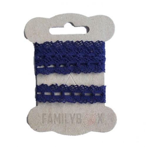 Кружево хлопок синее №27,  90 см