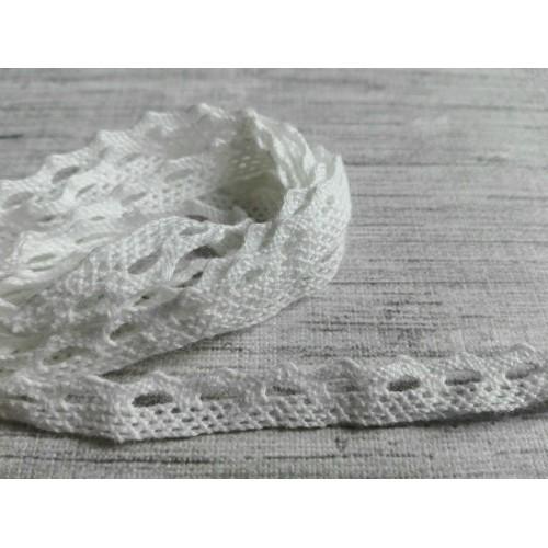 Кружево хлопок Зубчик белое 8 мм фото