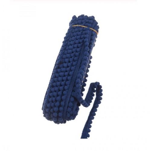 Тесьма с мини-помпонами Темно-синяя, 1 м