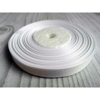 Лента репсовая Белая 0.9 см, 1 м