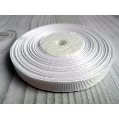 Лента репсовая Белая 0.9 см фото