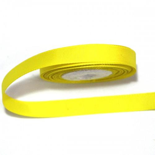 Лента репсовая Желтая 0.9 см фото