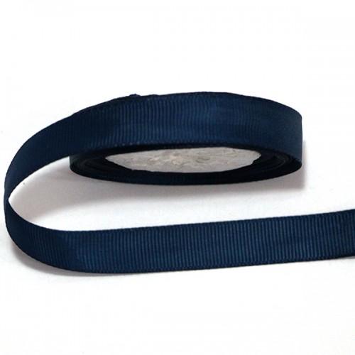 Лента репсовая Темно-синяя 0.9 см фото