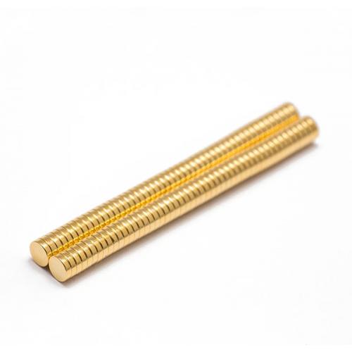 Неодимовый магнит Золото, 5x1 мм