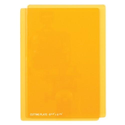 Прозрачные оранжевые пластины для вырезания и тиснения фото