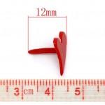 Брадс Сердце красное, 12 мм*11мм