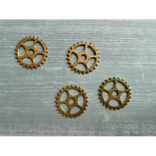 Металлический декор Шестеренка Золото, 10 мм