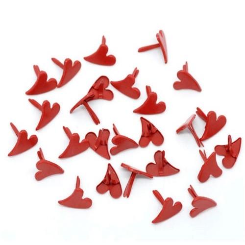Брадс Сердце красное 12 мм*11мм фото