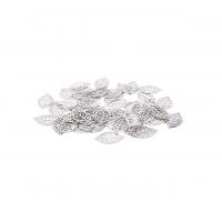 Филигрань Листик Серебро, 25*15 мм