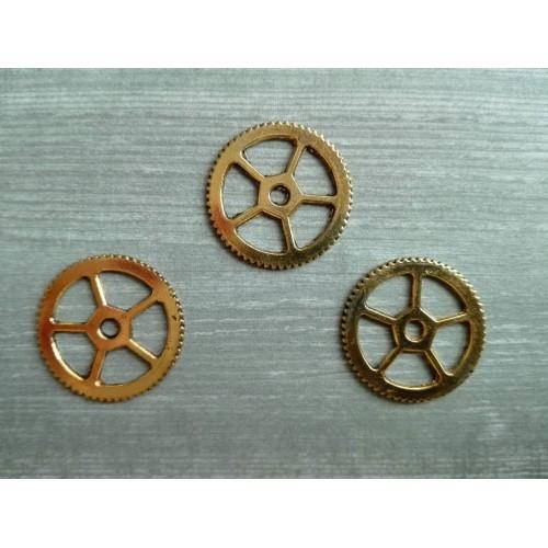 Металлический декор Шестеренка №1 Золото, 15 мм