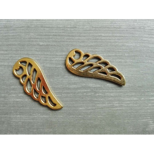 Металлический декор Крылья №4 Золото, 2.3х0.8 см