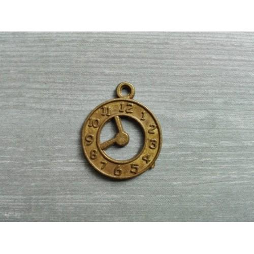 Металлический декор Часы Бронза, 1.7 см