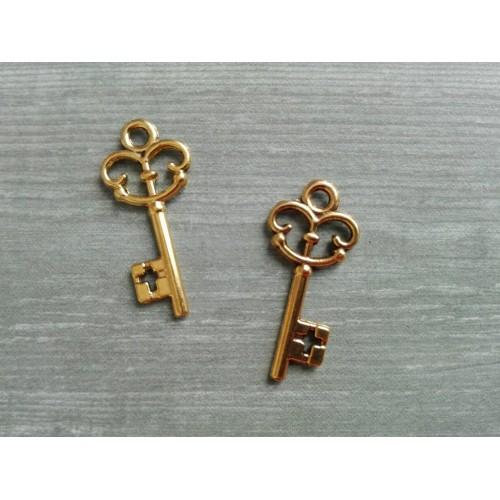 Металлический декор Ключ № 15 Золото 2.2х1 см фото