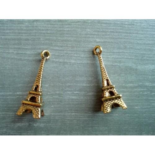Металлический декор Эйфелева башня Золото, 2.4х0.7