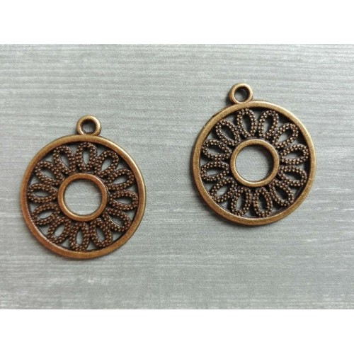Металлический декор Этно-круг Бронза 2 см фото