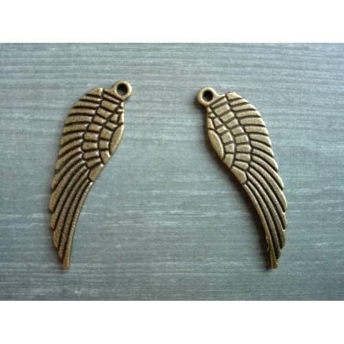 Металлический декор Крылья №2 Бронза, 3 см