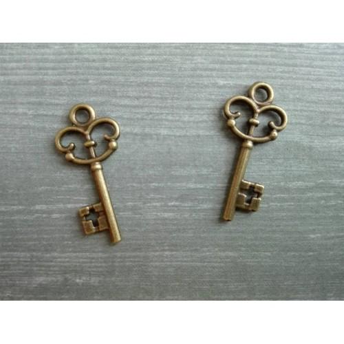 Металлический декор Ключ № 15 Бронза, 2.2х1 см