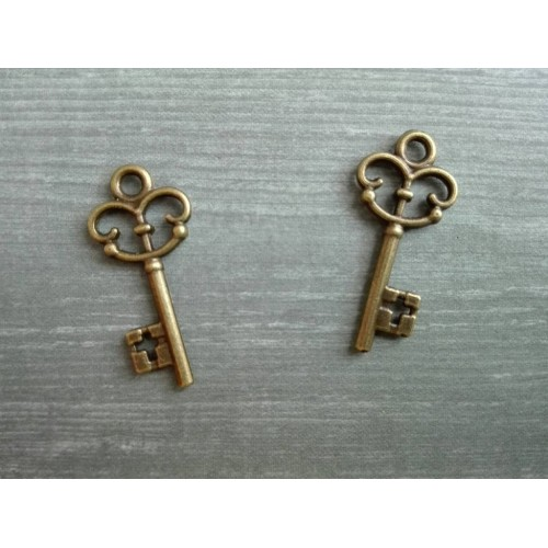 Металлический декор Ключ № 15 Бронза 2.2х1 см фото