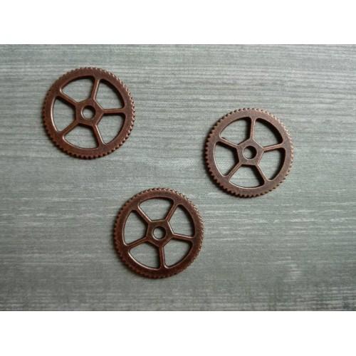 Металлический декор Шестеренка №7 Медь 17 мм фото