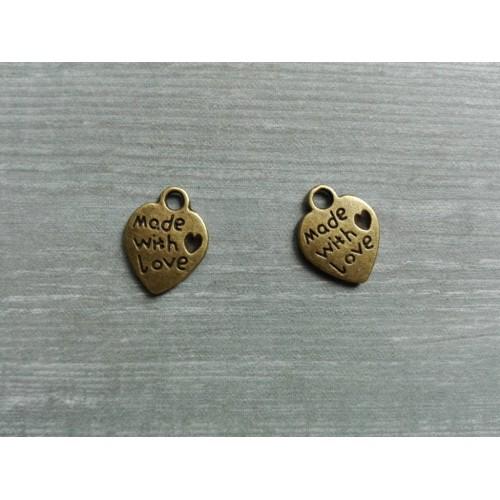 Металлический декор Сердце №18 Бронза 1х1см фото