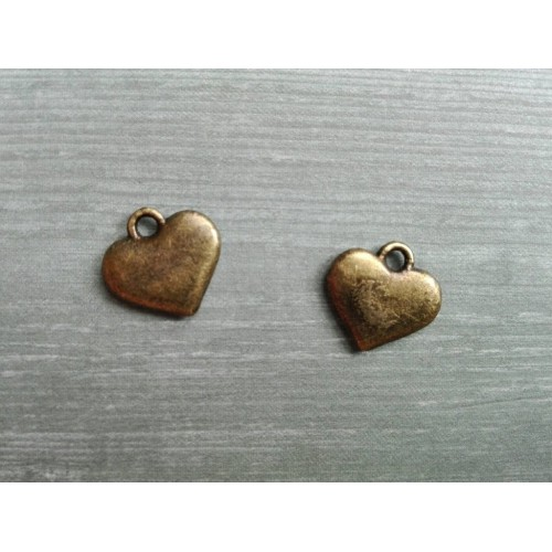 Металлический декор Сердце №15 Бронза, 1х1см