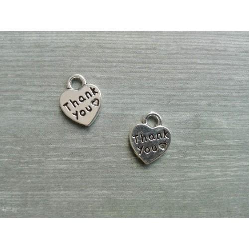 Металлический декор Сердце №19 Серебро, 1х1см