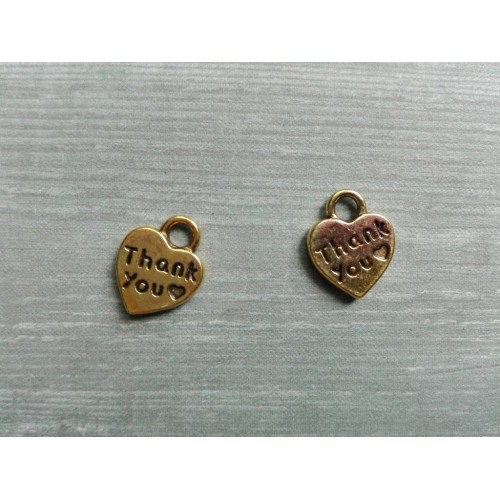 Металлический декор Сердце №19 Золото 1х1см фото