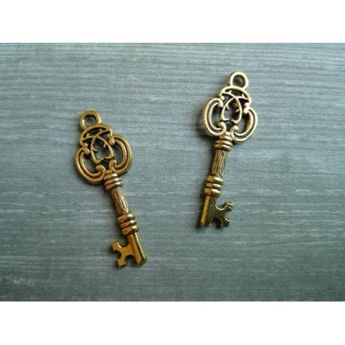 Металлический декор Ключ №3 Золото, 2.5х1см