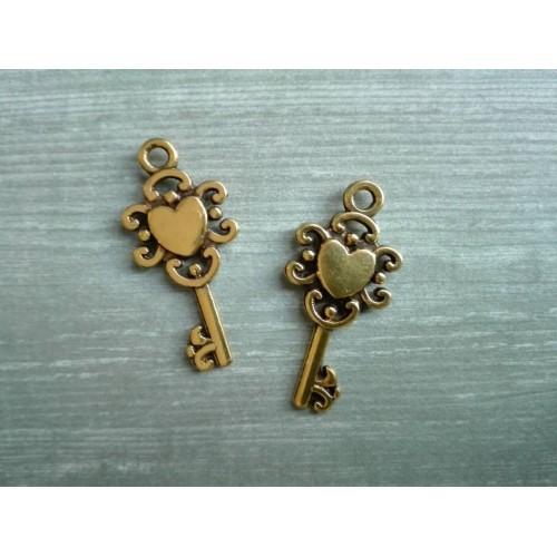 Металлический декор Ключ №8 Золото 2х1 см фото