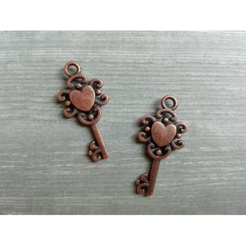 Металлический декор Ключ №8 Медь 2х1 см фото