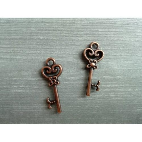 Металлический декор Ключ №10 Медь, 2.1х0.8 см