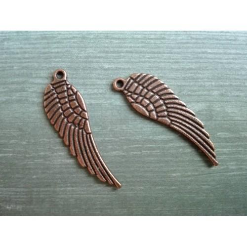 Металлический декор Крылья №2 Медь, 3 см