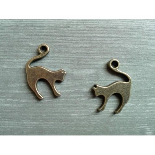 Металлический декор Кошка №1 Бронза, 1.5х2 см