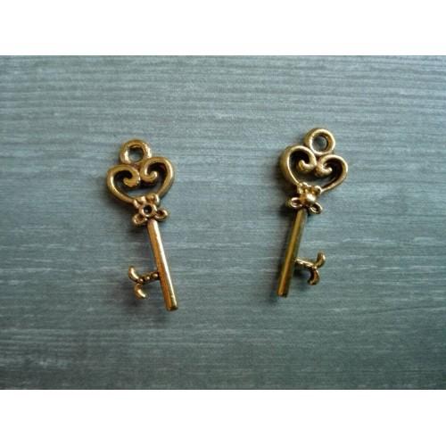 Металлический декор Ключ №10 Золото, 2.1х0.8 см
