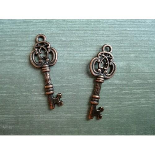 Металлический декор Ключ №3 Медь 2.5х1см фото