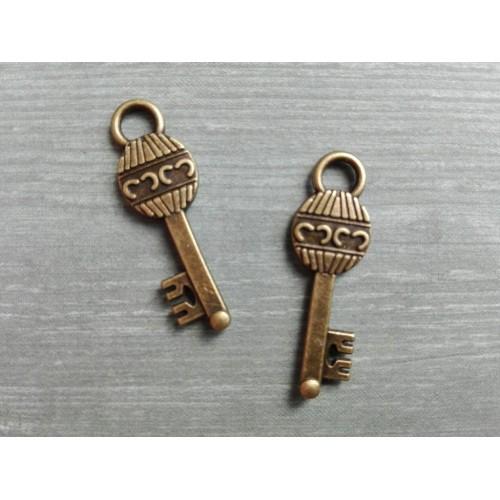 Металлический декор Ключ № 12 Бронза, 3х0.7 см
